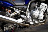 Motorbikes chromed engine. Bikes in a street — Stock Photo