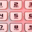 mobile phone keypad in closeup — Stock Photo #8790062