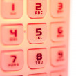 Mobile phone keypad in closeup — Stock Photo