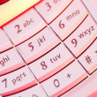 mobile phone keypad in closeup — Stock Photo #8790425