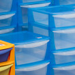 Plastic boxes — Stock Photo
