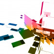 3d cubes with glossy light effects — Stock Photo