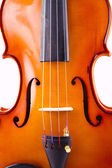 Vintage violin over white background — Stock Photo