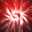 Mystical background bright red - Stock Photo
