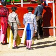 Group bullfighters costumes - Stock Photo