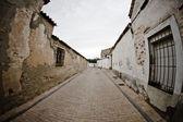 çamur, kırsal kasaba evler sokak — Stok fotoğraf