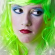 Royalty-Free Stock Photo: Sad green fairy girl