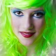 Green fairy girl — Stock Photo