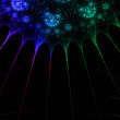 Laser light background. - Stock Photo
