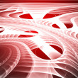 Red background. Abstract design. Red and white. - Stock Photo