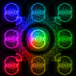Laser light background. — Stock Photo