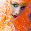 Orange haired fairy girl - Stock Photo