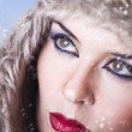 Portrait of winter woman, detail — Stock Photo #9477431