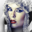 Sexy woman with snow hat — Stock Photo #9477439
