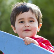 Cute little baby boy playing at park — Stock Photo
