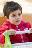Baby boy playing at park — Stock Photo