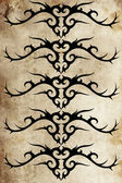 Tattoo pattern with tribal designs — Stock Photo
