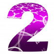 2 number with abstract design - Stock Photo