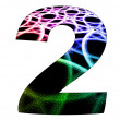 2 number with abstract design — Stock Photo