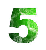 5 number with abstract design — Stock Photo
