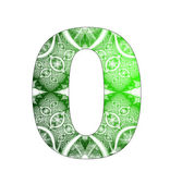 0 number with abstract design — Stock fotografie