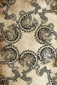 Tattoo group of dragons, ancient decoration — Stock Photo
