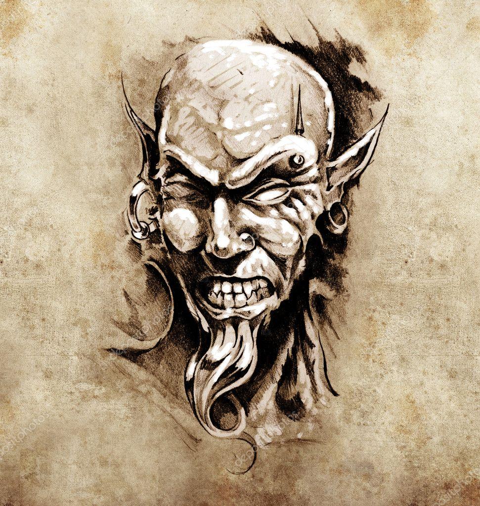 эскизы тату дьявола: