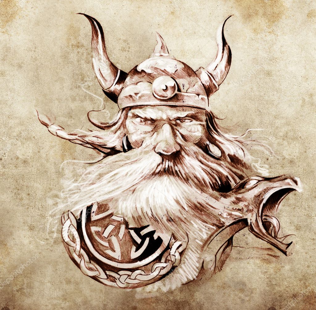 Art Viking Warrior Tattoos