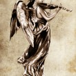 Sketch of tattoo art, music angel with violin — Stock Photo #9942577
