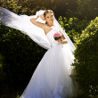 Beautiful bride posing in her wedding day — Stock Photo #10458402