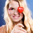 Stock Photo: The girl with heart