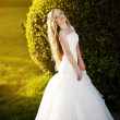 The image of a beautiful bride in a blossoming garden — Stock Photo #8695814