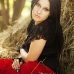 Beautiful gothic woman . — Stock Photo #8708446