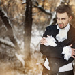 Fabulous werewolf guy in the woods - Stock Photo