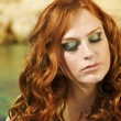 Beauutiful young woman with red hair — Stock Photo #9595909
