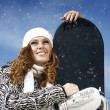 Snowboard girl — Stock Photo #9595948