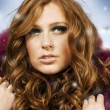 Beautiful redhead woman — Stock Photo