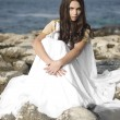 Stok fotoğraf: Fashion shoot of Aphrodite styled young woman