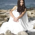 Mode-Shooting der Aphrodite Stil junge Frau — Stockfoto