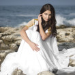 Stock Photo: Fashion shoot of Aphrodite styled young woman