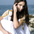 Fashion shoot of Aphrodite styled young woman — Stock Photo