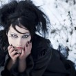 Royalty-Free Stock Photo: Beautiful gothic girl in the snow