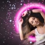 Portrait of dancing girl — Stock Photo
