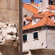 "Croatia. Dubrovnik. Sculpture ""wind"". — Stock Photo"