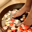 Foot spa and aromatherapy - Stock Photo
