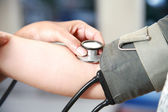 Blood pressure check up — Stock Photo