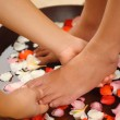 Stock Photo: Foot spand aromatherapy