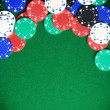 Gambling chips background - Stock Photo