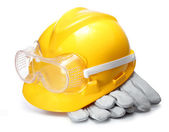 Yellow Construction Helmet — Stockfoto