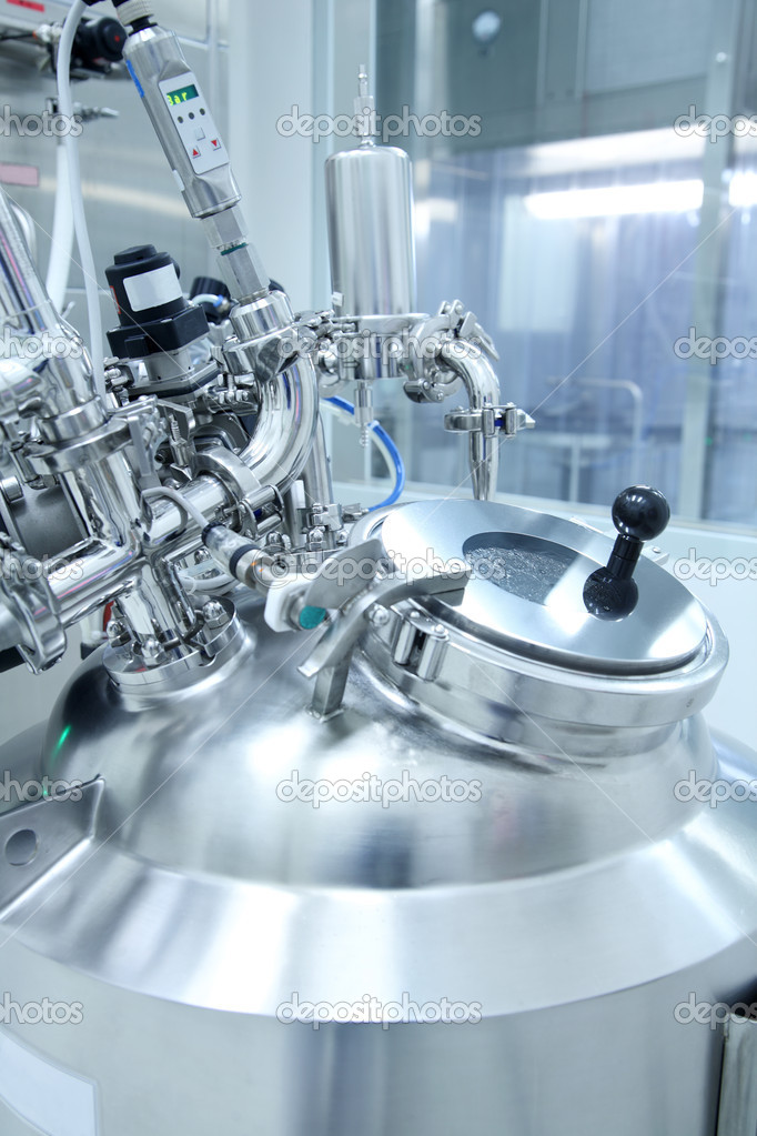 Technology equipment in a pharmaceutical manufacturing facility  Stock Photo #8636889